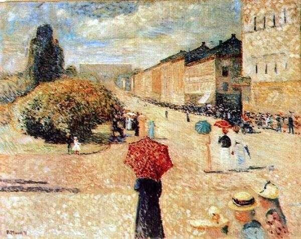 Karl Johans Gate的春日   Edvard Munch