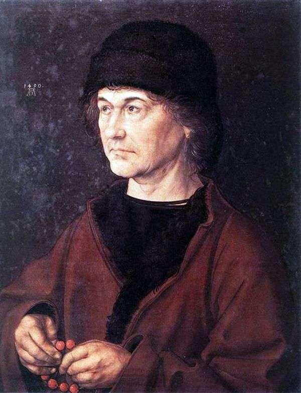 艺术家父亲的肖像   阿尔布雷希特 丢勒