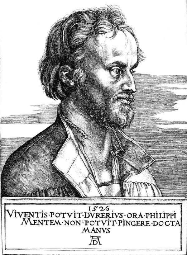 Philip Melanchthon的肖像   Albrecht Durer