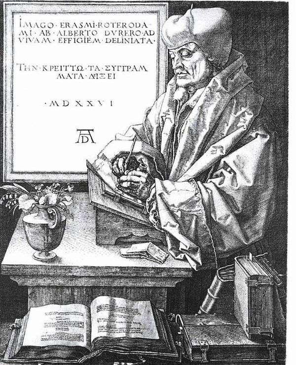 鹿特丹伊拉斯谟肖像   阿尔布雷希特杜勒