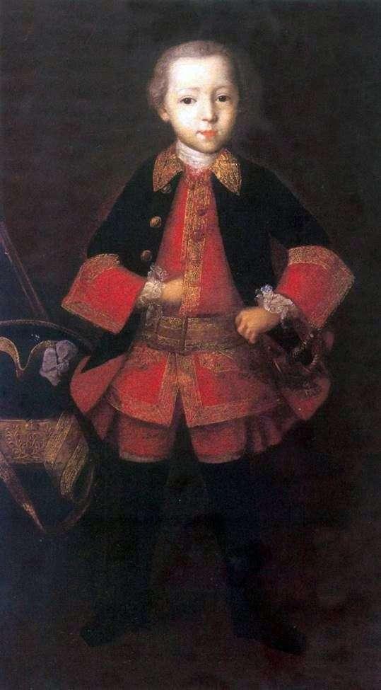 F. N. Golitsyn作为一个孩子的肖像   伊万Vishnyakov