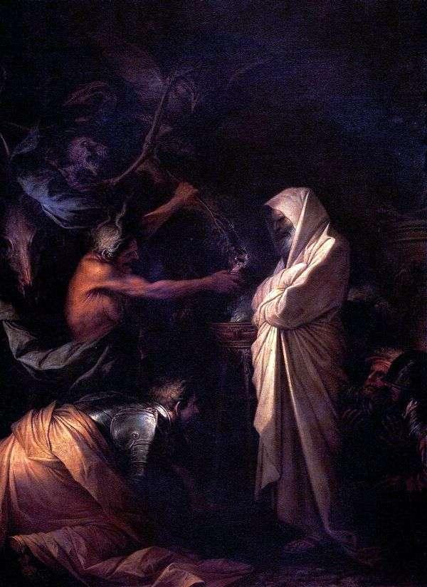 撒母耳的灵被以色列的女巫   萨尔瓦托雷罗莎召唤到扫罗身边