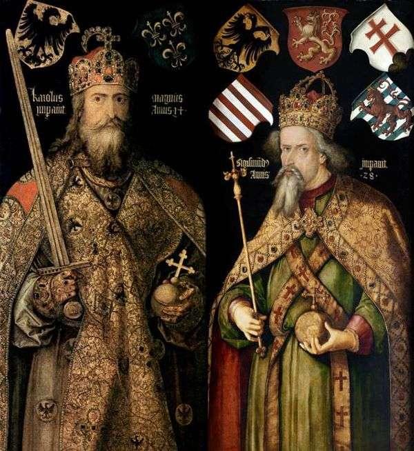 皇帝查尔斯和西吉蒙德的画像   阿尔布雷希特杜勒