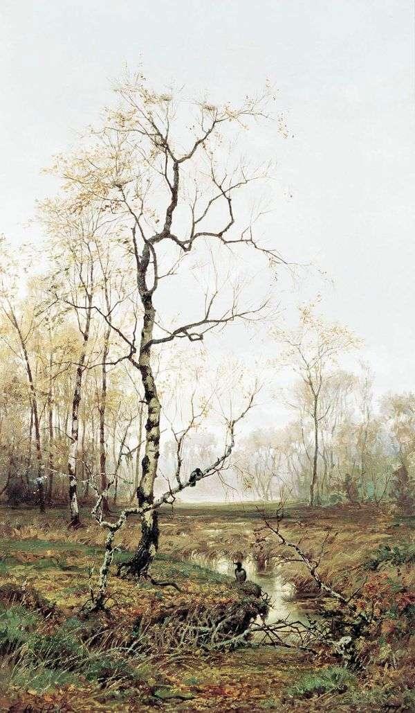 在森林里。在春天   Efim Volkov