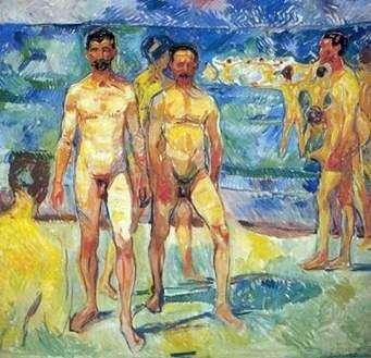 男子在沙滩上   爱德华蒙克