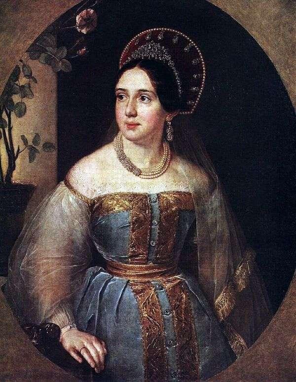 E. I. Karzinkina的画像   瓦西里Tropinin
