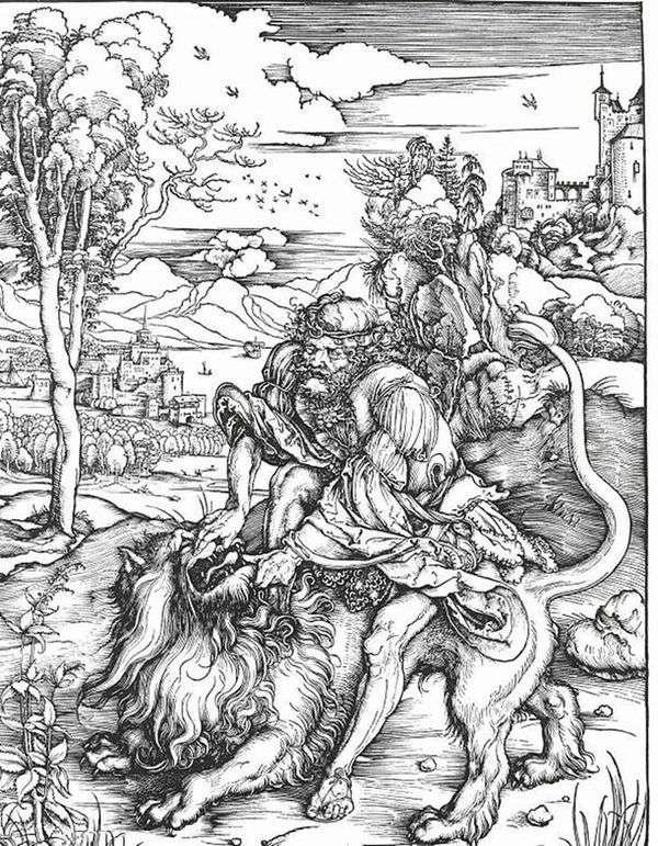 狮子杀手萨姆森   阿尔布雷希特杜勒