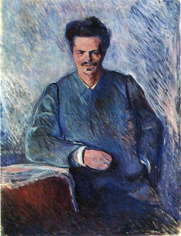 奥古斯都斯特林堡的肖像   爱德华蒙克