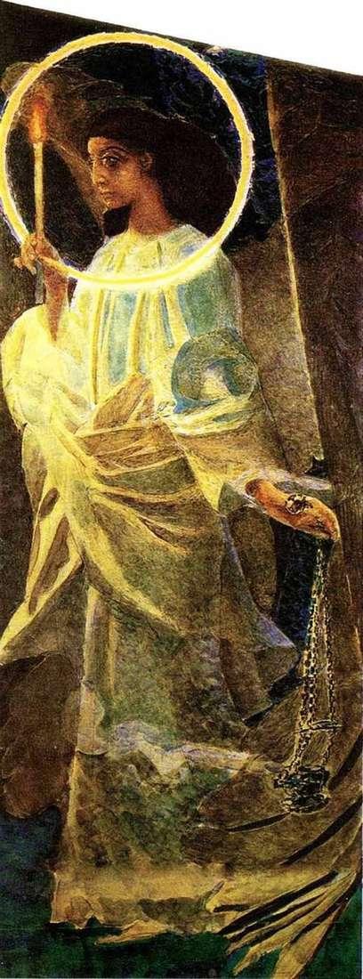 天使用香炉和蜡烛   米哈伊尔Vrubel
