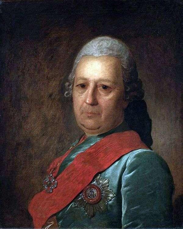 A. M. Obreskov的肖像   Fedor Rokotov