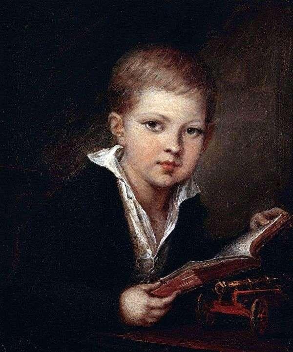 王子的肖像 M. A. Obolensky作为一个孩子   Vasily Tropinin