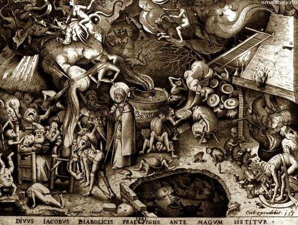 圣杰罗姆。雕刻   彼得布鲁盖尔