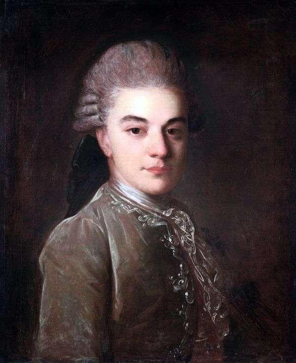 A. M. Rimsky Korsakov年轻时的肖像   Fedor Rokotov