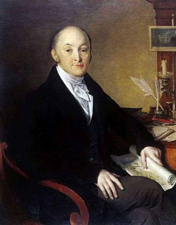 米哈伊尔 米哈伊洛维奇 斯佩兰斯基   瓦西里 托宾宁的肖像