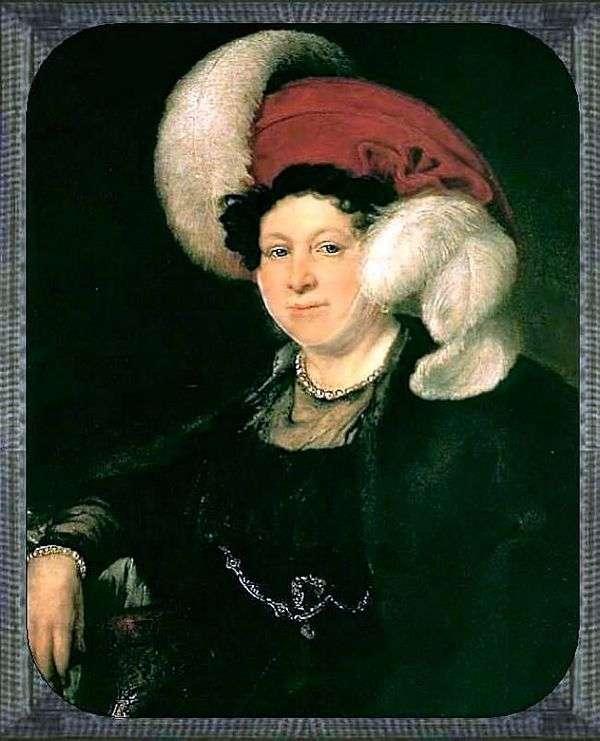 N. A. Zubova的肖像   瓦西里Tropinin