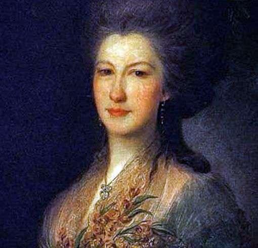伯爵夫人E. V. Santi的画像   Fedor Rokotov