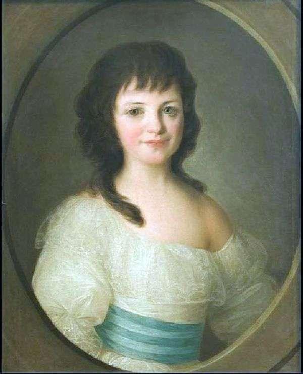 伯爵夫人P. A. Vorontsova作为孩子的画像   费奥多尔 罗科托夫