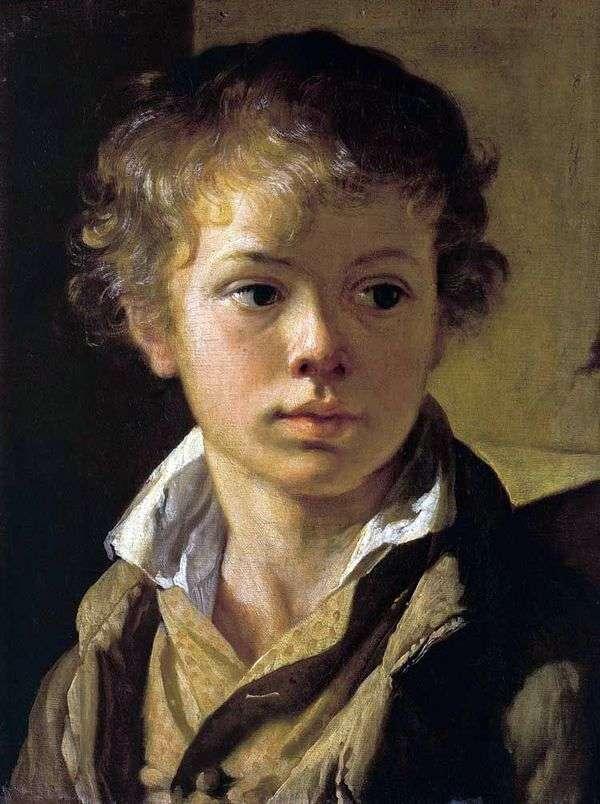 艺术家的儿子   瓦西里Tropinin的肖像