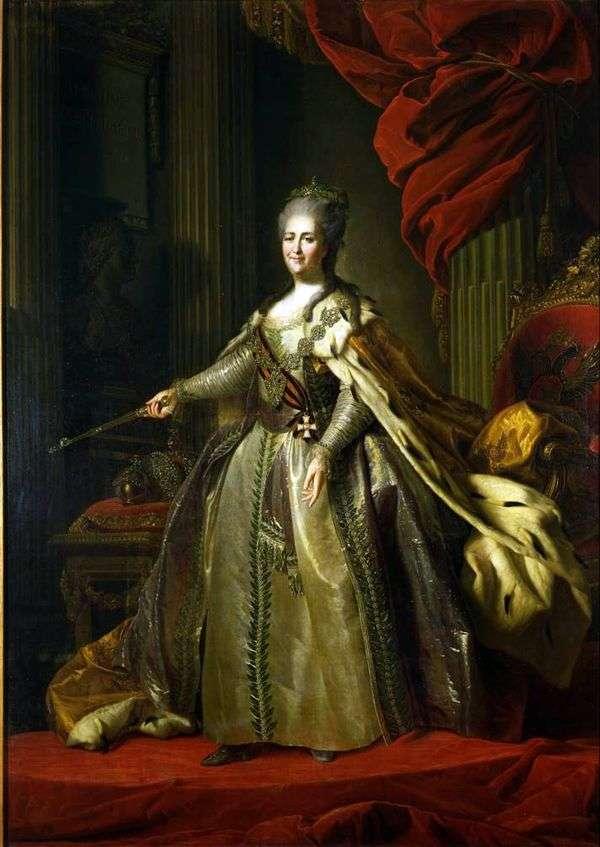 女皇凯瑟琳二世的画像   费多尔 罗科托夫