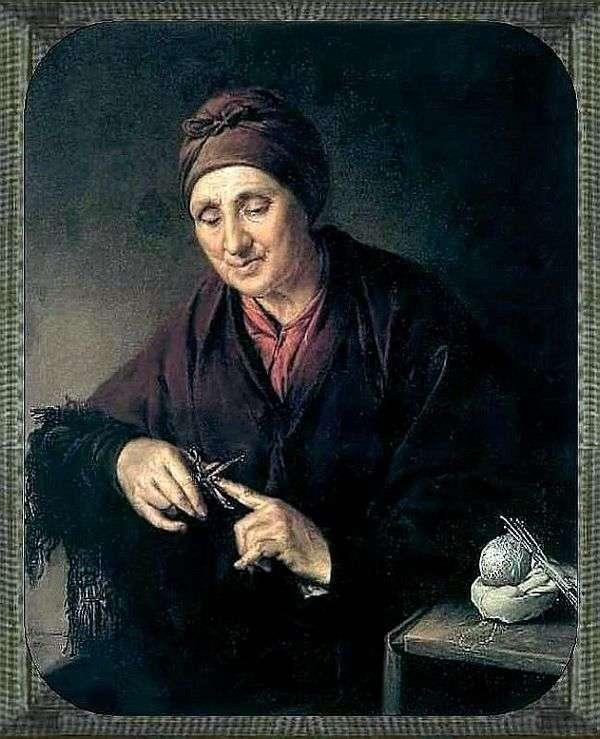 修饰她的钉子的老妇人   瓦西里Tropinin