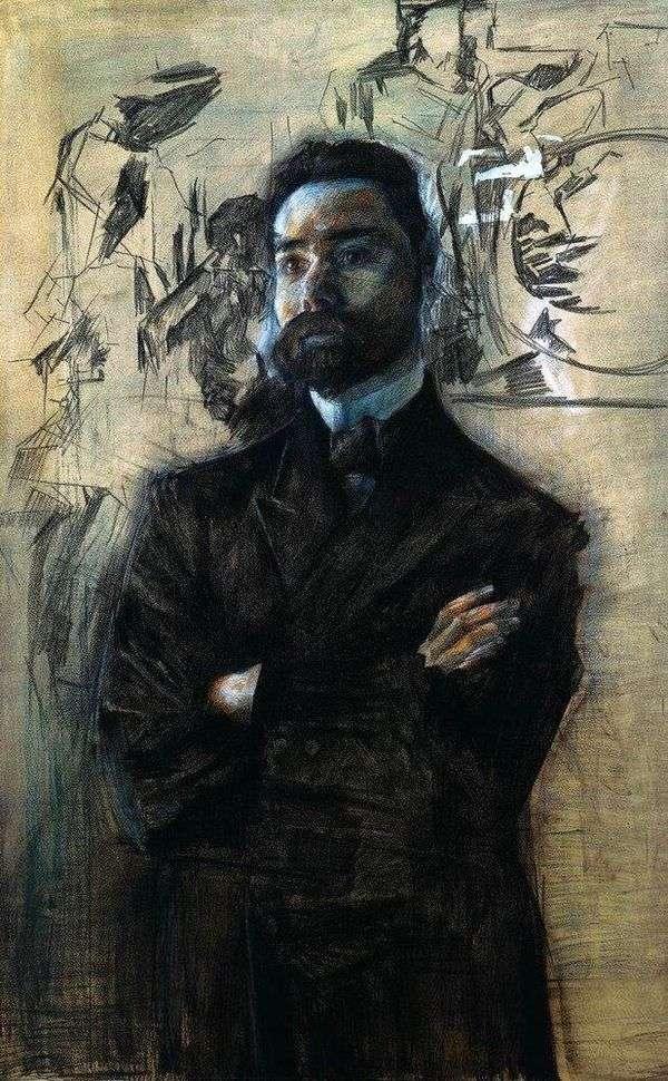 V. Ya. Bryusov的肖像   米哈伊尔Vrubel