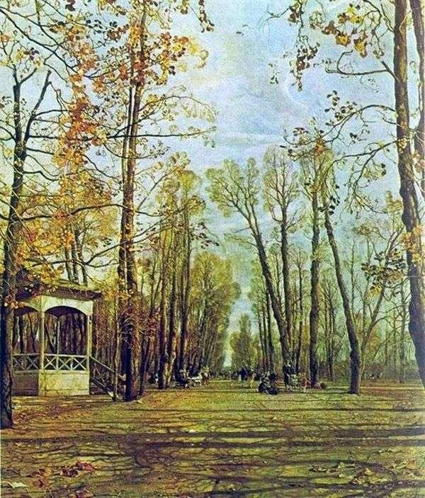 秋天的夏天花园   艾萨克布罗德斯基