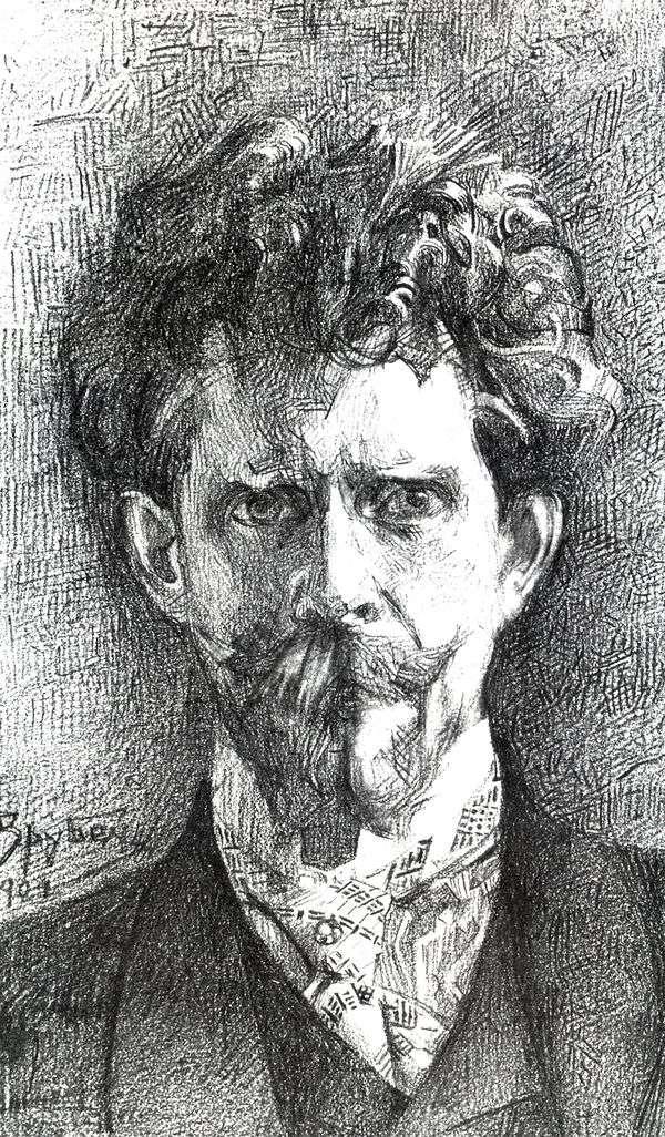 F. A. Usoltsev博士的肖像   Mikhail Vrubel