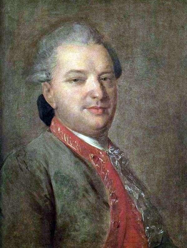 诗人瓦西里 伊万诺维奇 迈科夫   费多尔 罗科托夫的画像
