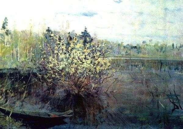 柳树在洪水中   尼古拉罗曼