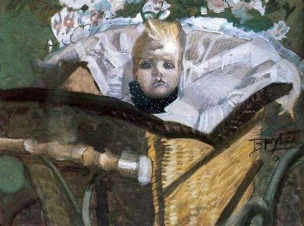 艺术家的儿子   米哈伊尔 弗鲁贝尔的肖像