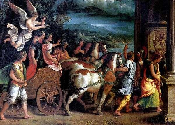 提图斯和维斯帕西安的胜利   朱利奥罗马诺
