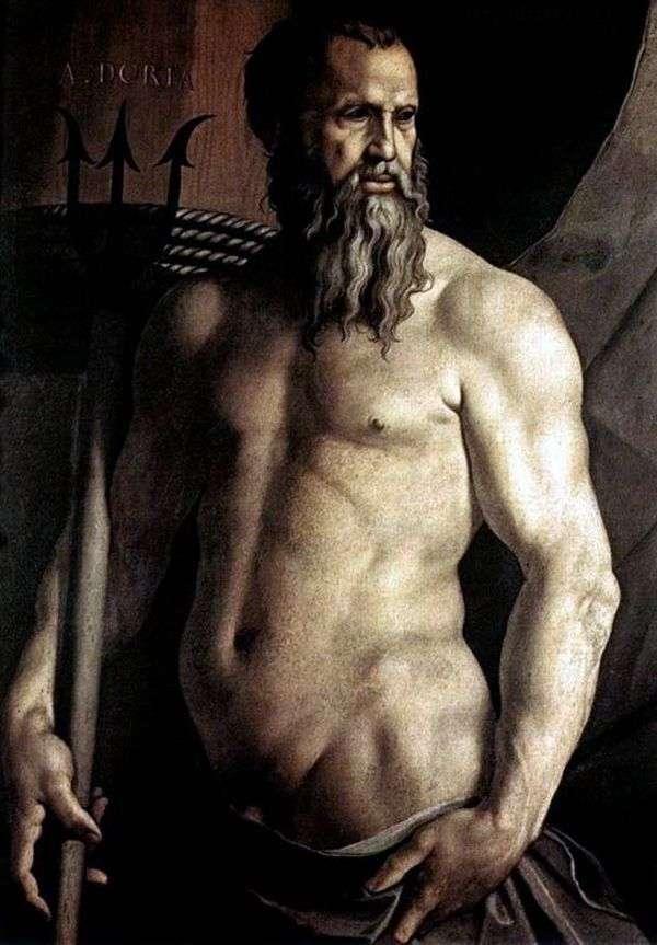 安德里亚多利亚的肖像以海王星的形式   Agnolo Bronzino