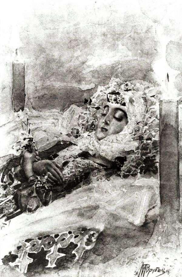 塔马拉在棺材   米哈伊尔Vrubel