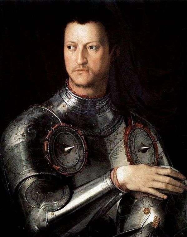 Cosimo的肖像是Lats的第一个Medici   Agnolo Bronzino