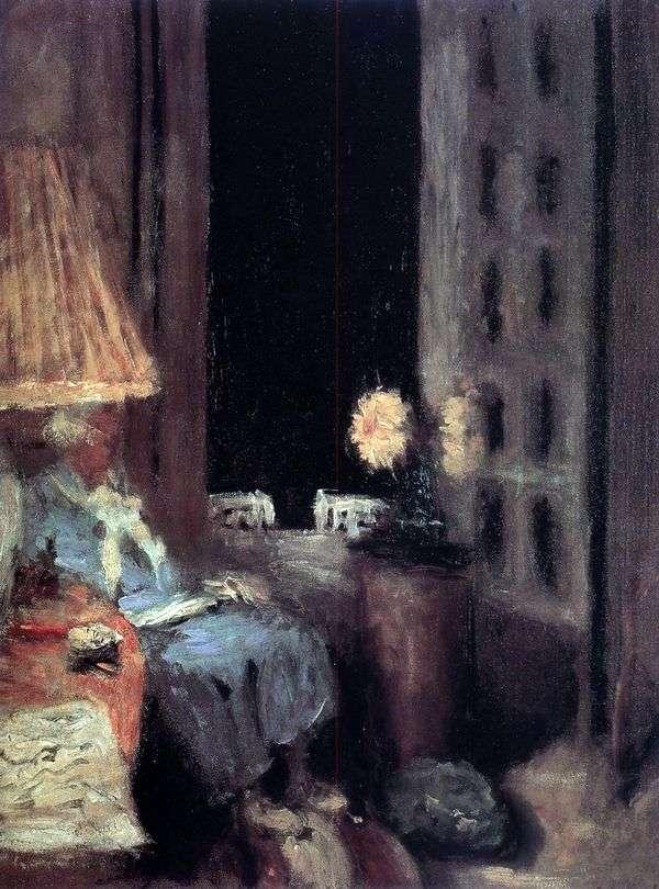 读女人。晚报。   Edouard Vuillard