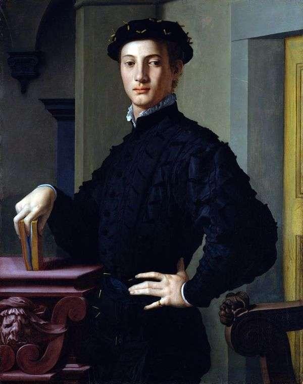 一个年轻人的画象   Agnolo Bronzino