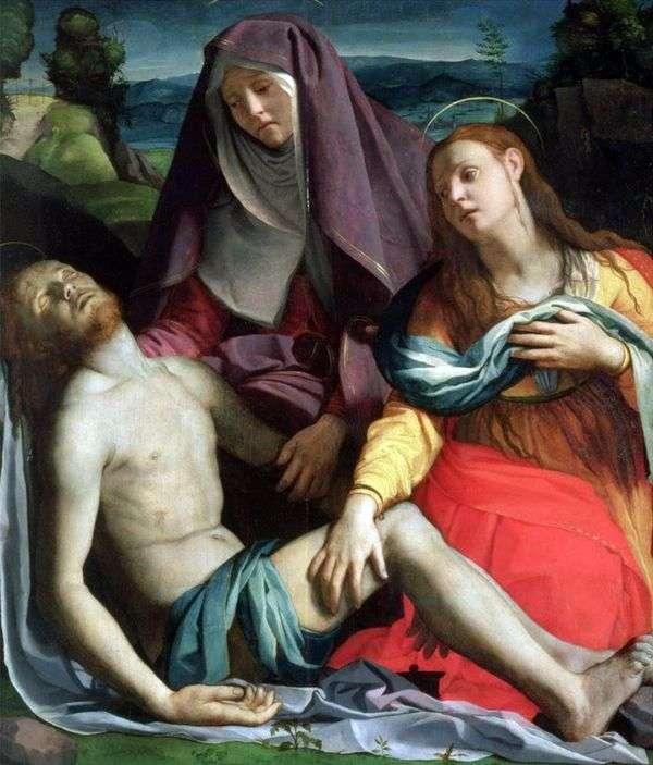 死去的基督与上帝的母亲和玛丽抹大拉(Pieta)   Agnolo Bronzino