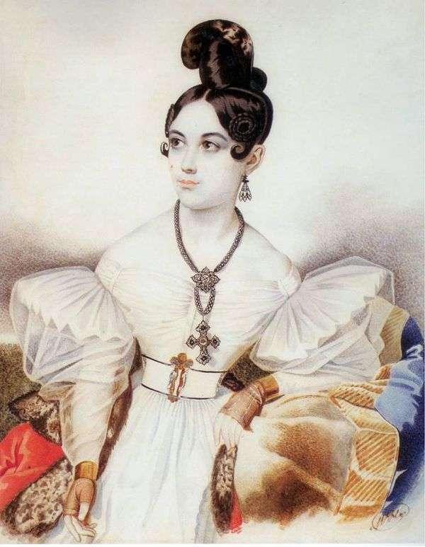 安娜Mikhailovna Vielgorskaya画象   卡尔Gampeln