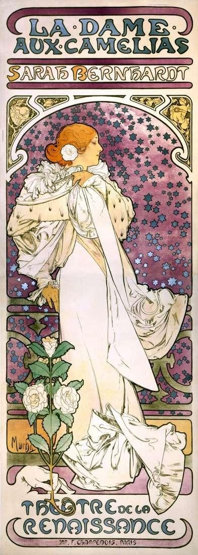 山茶花的夫人   Alphonse Mucha
