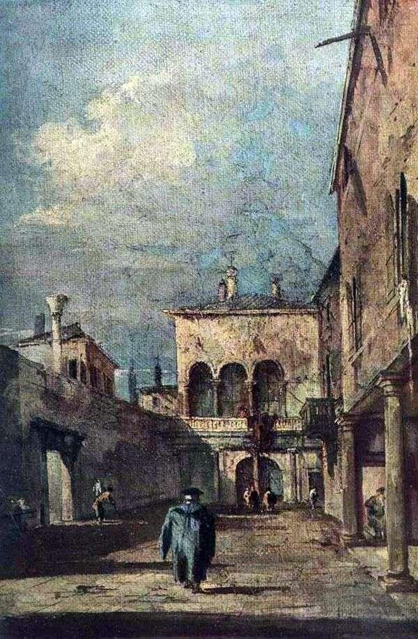 威尼斯庭院   Francesco Guardi